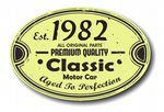 Distressed Aged Established 1982 Aged To Perfection Oval Design For Classic Car External Vinyl Car Sticker 120x80mm